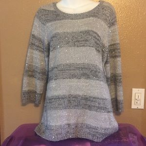 Christopher & Banks gray acrylic blend sweater, L